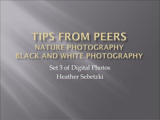 Set 3 of Digital Photos Heather Sebetzki