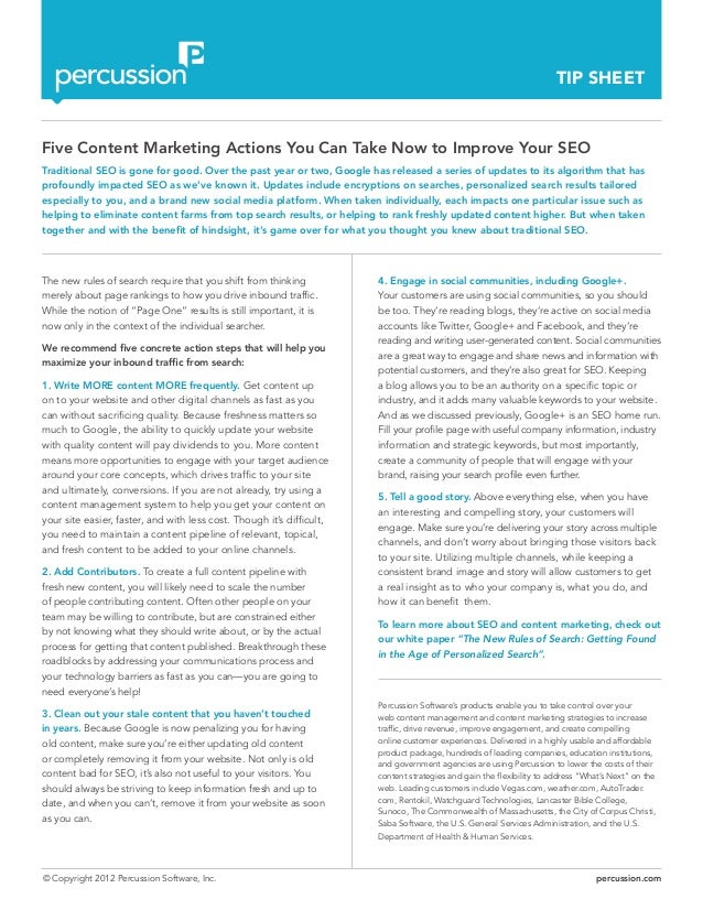 Five Content Marketing Actions You Can Take Now to Improve Your SEO