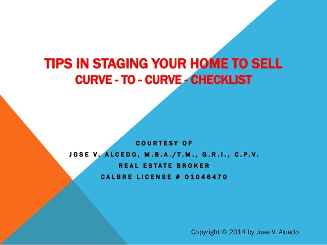 Tips in staging your home to sell for Staging your home tips