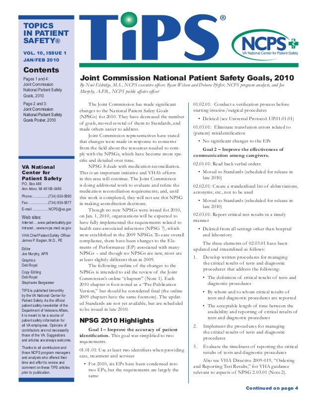 2010 issue of Topics in Patient Safety with 2010 Joint ...