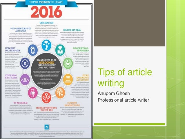 tips for writing articles