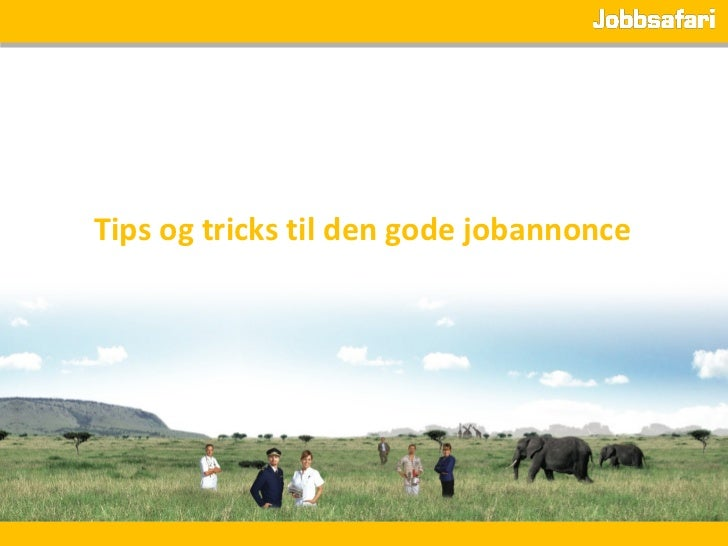 Tips og tricks til den gode jobannonce