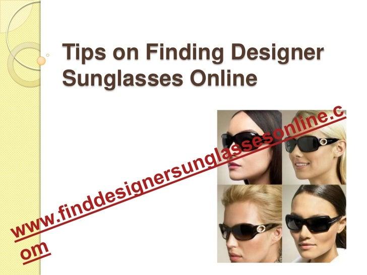 Tips on finding designer sunglasses online