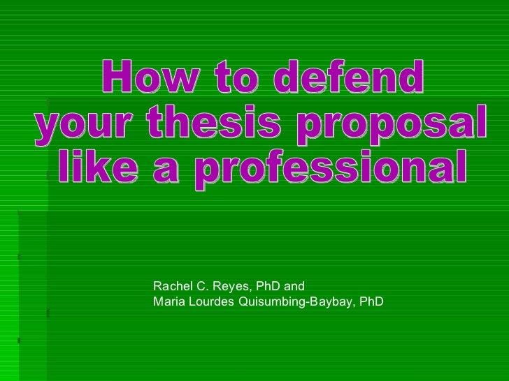 Dissertation presentation advice humor