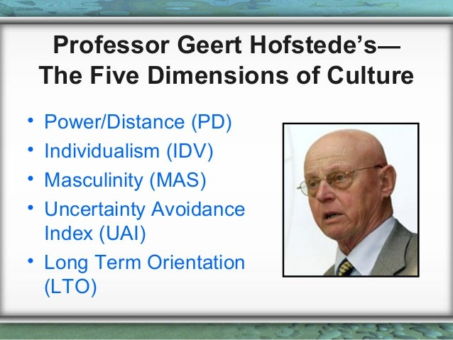 geert hofstede cultural dimensions analysis essay You'll also see on the geert hofstede website a series of cultural graphs we prepared that help demonstrate the relationships of hofstede's cultural dimensions coming soon to a bookshop near you: an all new dimension of culture culture matters, march 2010.