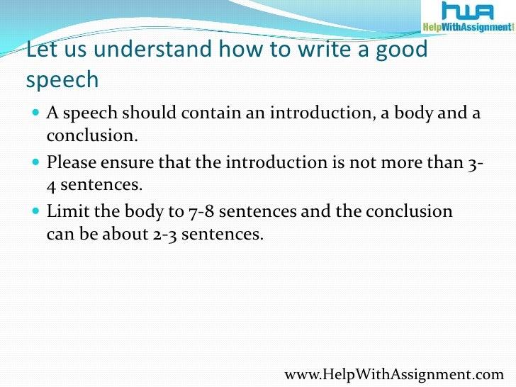 Good Speech Essay