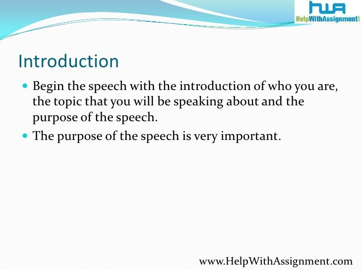 writing a good assignment introduction Enjoy proficient essay writing and custom writing services provided by professional academic writers provide us with all details to your assignment step 2.