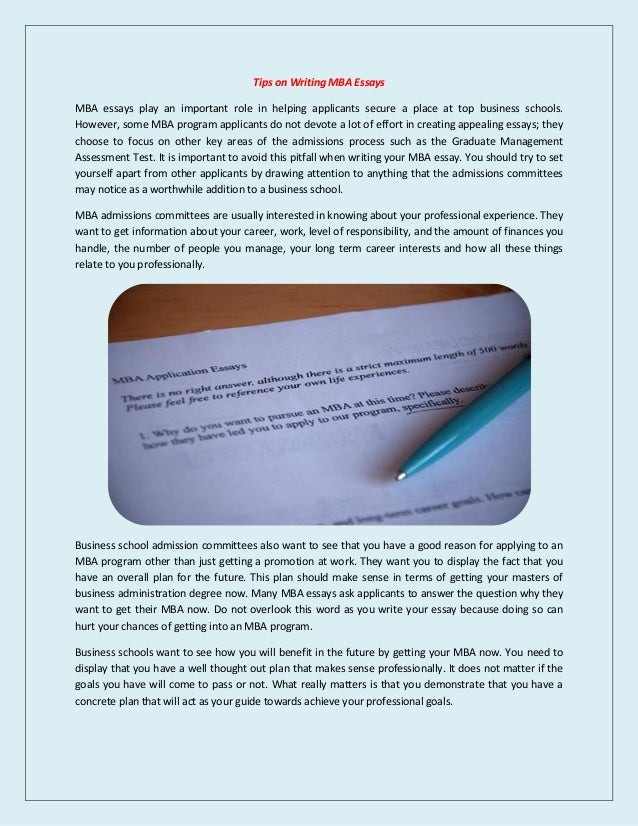 nus mba essays tips