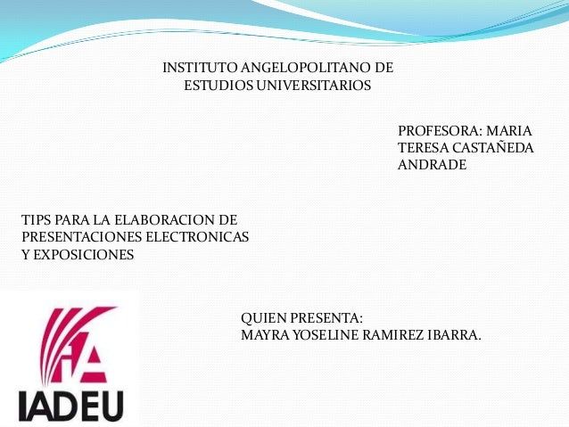 INSTITUTO ANGELOPOLITANO DE                   ESTUDIOS UNIVERSITARIOS                                              PROFESO...