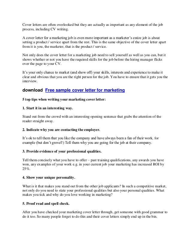 Cover letters are often overlooked but they are actually as important as any element of the jobprocess, including CV writi...