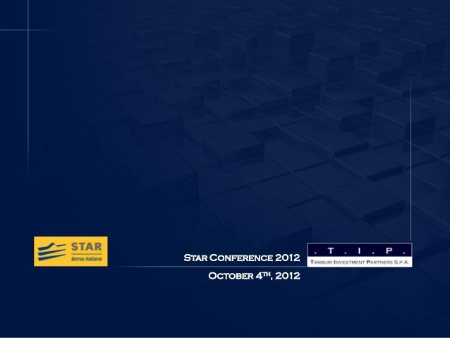 TIP - Star Conference - october 2012