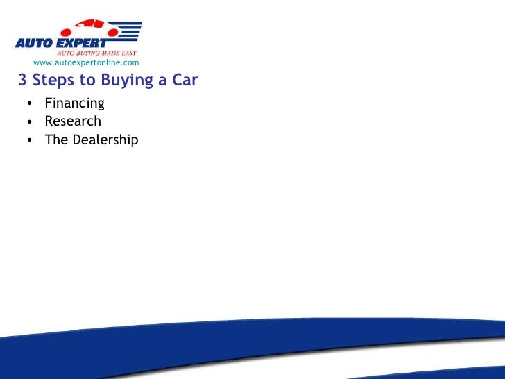 Three steps to buying a car?