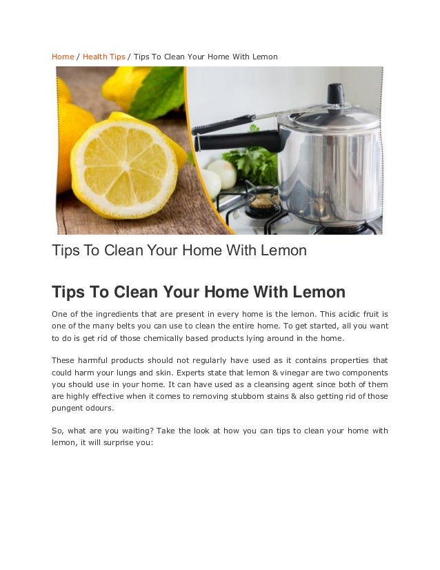 Tips to clean your home with lemon - Home secrets brief cleaning guide ...