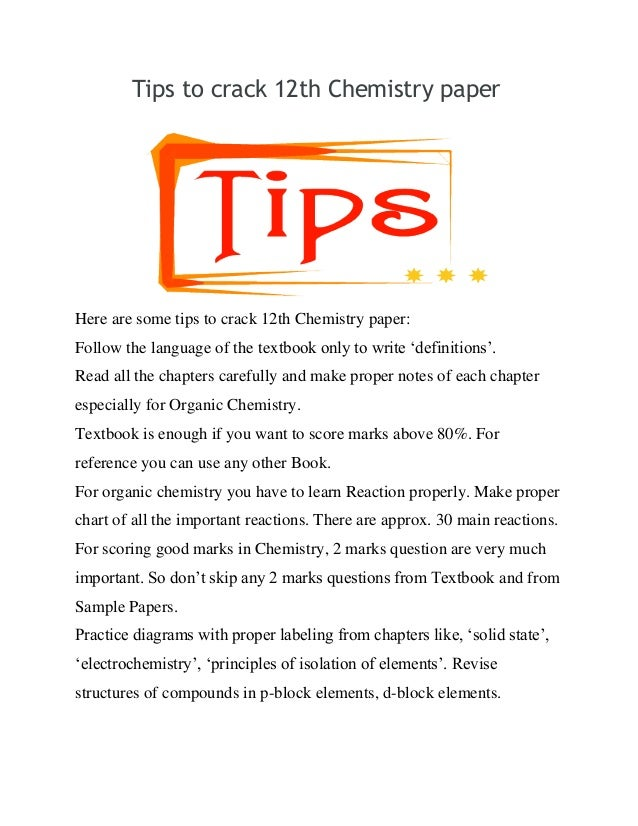 Chemistry Essay Topics
