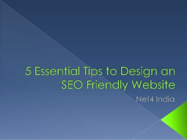  These days it is not just enough to make a  beautiful, and functional website Your website must be SEO friendly to get ...