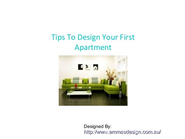 tips to design your first apartment