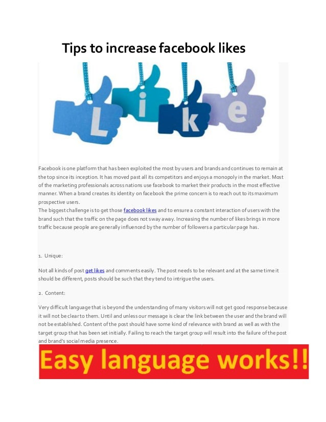Tips to increase facebook likes Facebook is one platform that has been exploited the most by users and brands and continue...