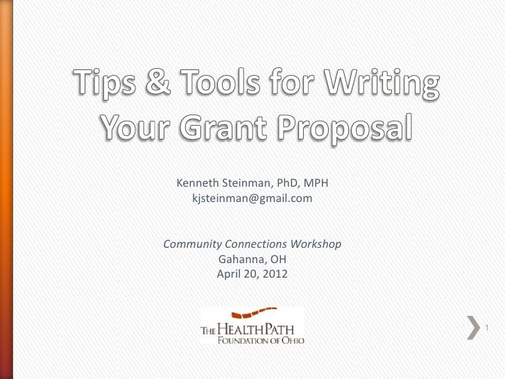 Tips and Tools for Writing Your Community Connections Grant Proposal