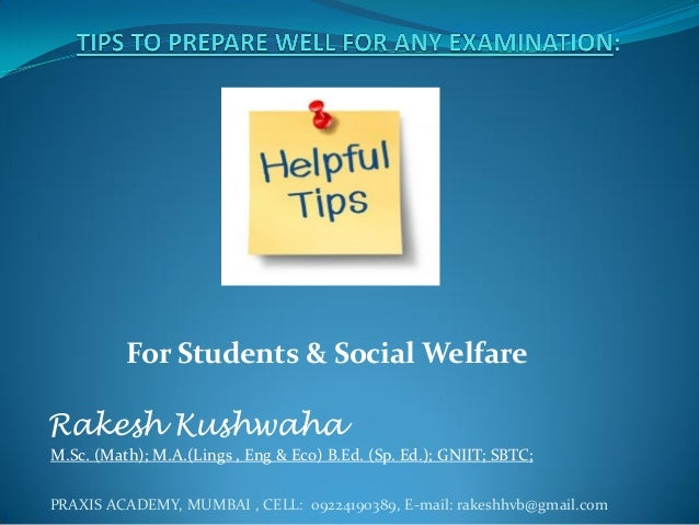 Tips to prepare well for any examination