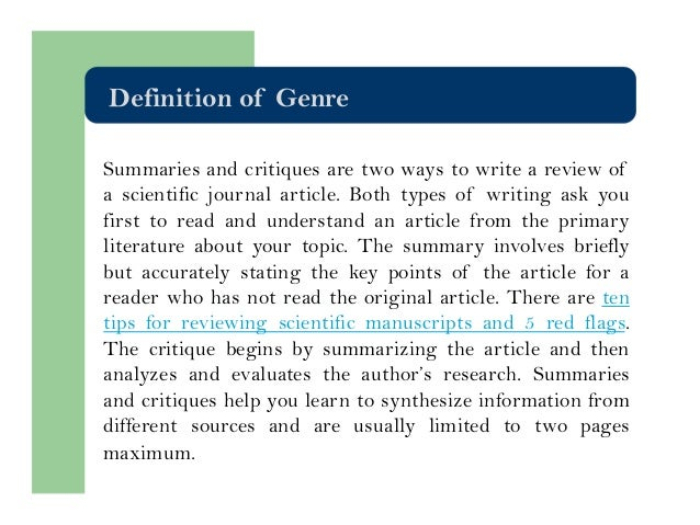 how to write a review on journal articles