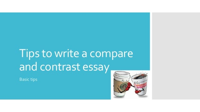how to write a compare and contrast essays