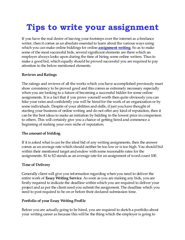 how to write assignments Gain a better understanding of how to structure and organise different types of writing assignments.