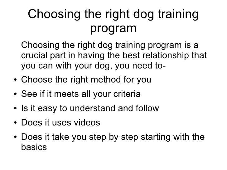 Dog training techniques pdf