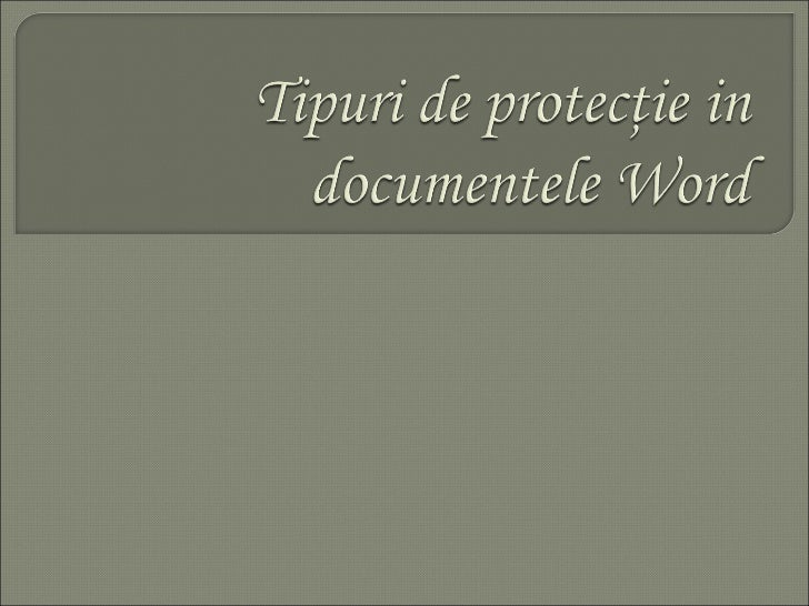 Cosmin Neagu 9C Tipuri de protectie Word