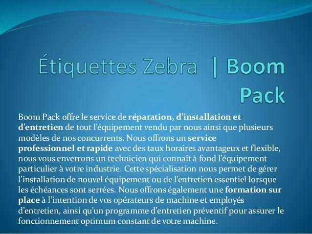 Boom Pack offre le service de réparation, d'installation et d'entretien de tout l'équipement vendu par nous ainsi que plus...