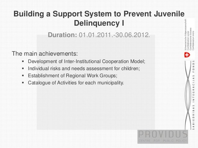 early prevention and intervention juvenile delinquents The juvenile delinquency intervention program  early intervention programs  panel approves use of intervention and prevention funds.