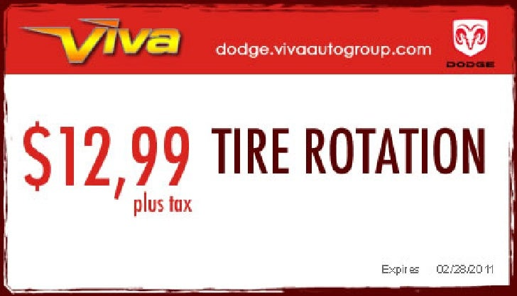Tire Rotation Service Special – Viva Dodge Chrysler Jeep El Paso TX