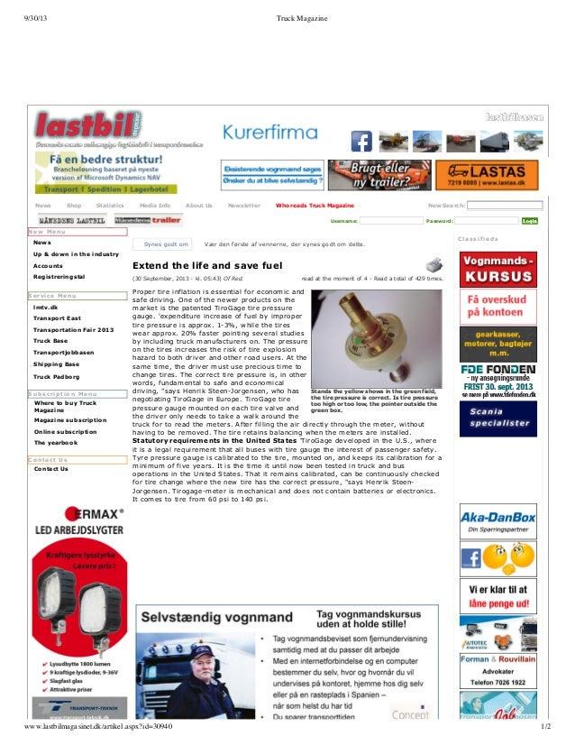 9/30/13  News  Truck Magazine  Shop  Statistics  MediaInfo  AboutUs  Newsletter  WhoreadsTruckMagazine Username:  New...