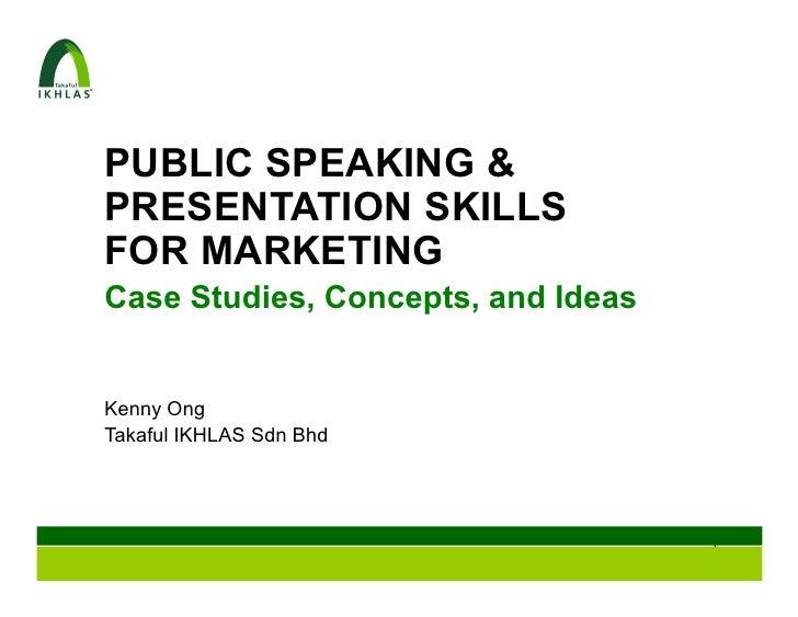 Takaful IKHLAS Public Speaking & Presentation Skills for Marketing