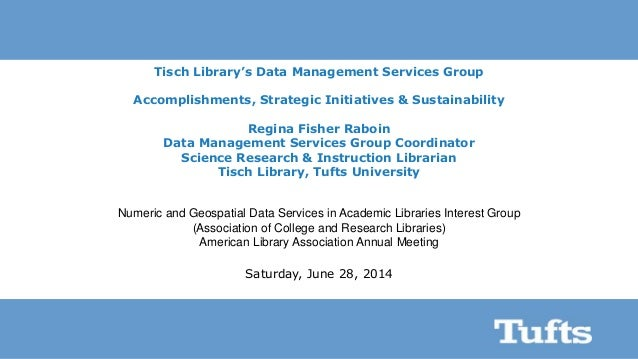 Tufts Tisch Library's Data Services Group