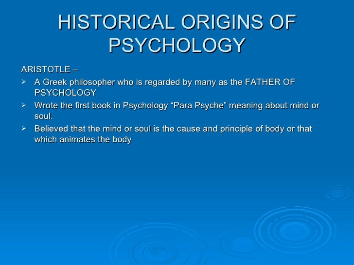 I am Writing an Essay on the History of Psychology?