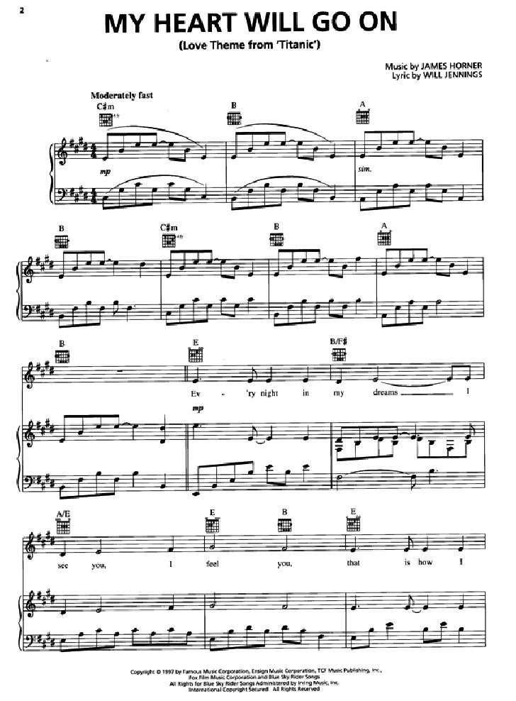watashi no uso piano sheet pdf
