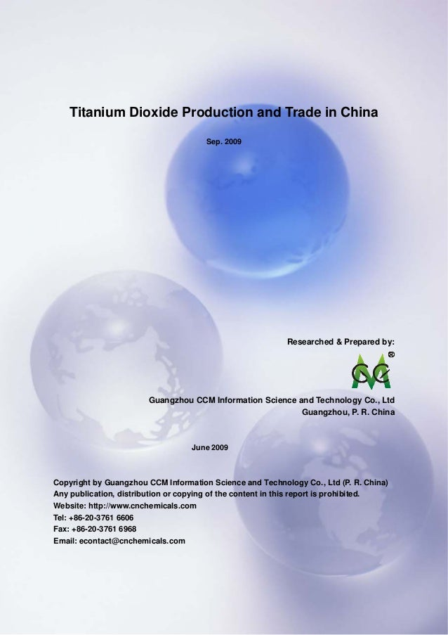 CCMData & Primary Intelligence Website: http://www.cnchemicals.com Email: econtact@cnchemicals.com Tel: +86-20-3761 6606 F...