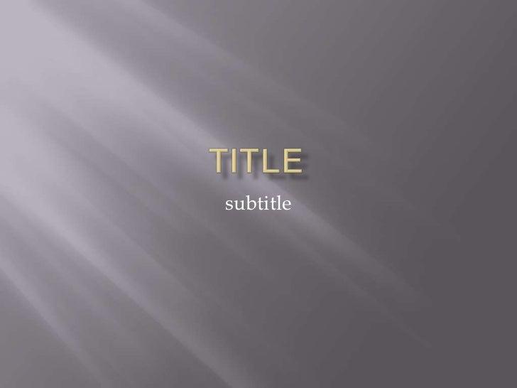 title<br />subtitle<br />