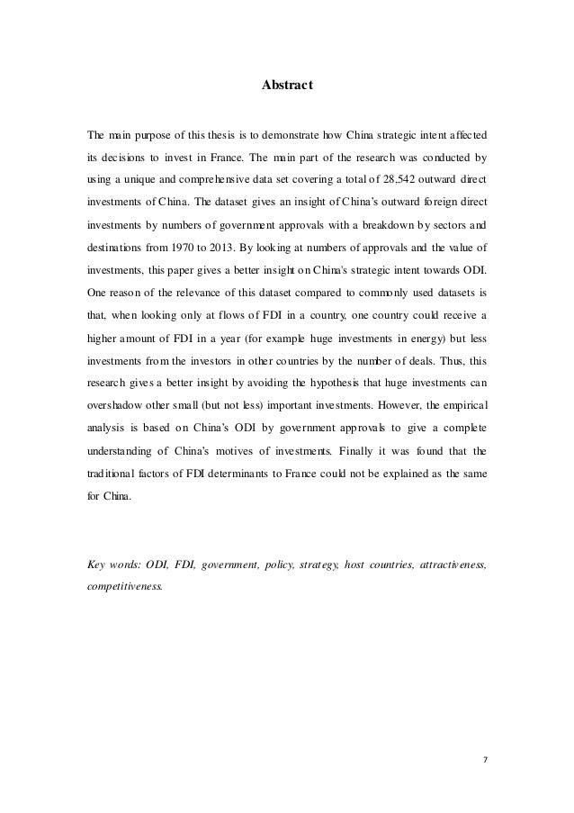 Developpement chine dissertation