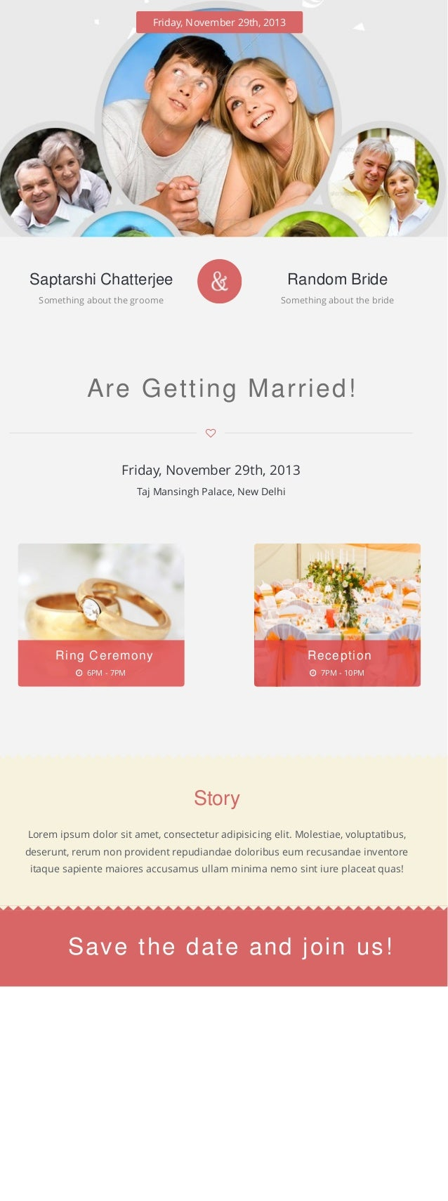 Friday, November 29th, 2013 Saptarshi Chatterjee Something about the groome Random Bride Something about the bride Are Get...