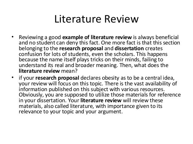 review literature You will almost certainly use research databases in order to find sources for your literature review some databases have special features that make this easier.