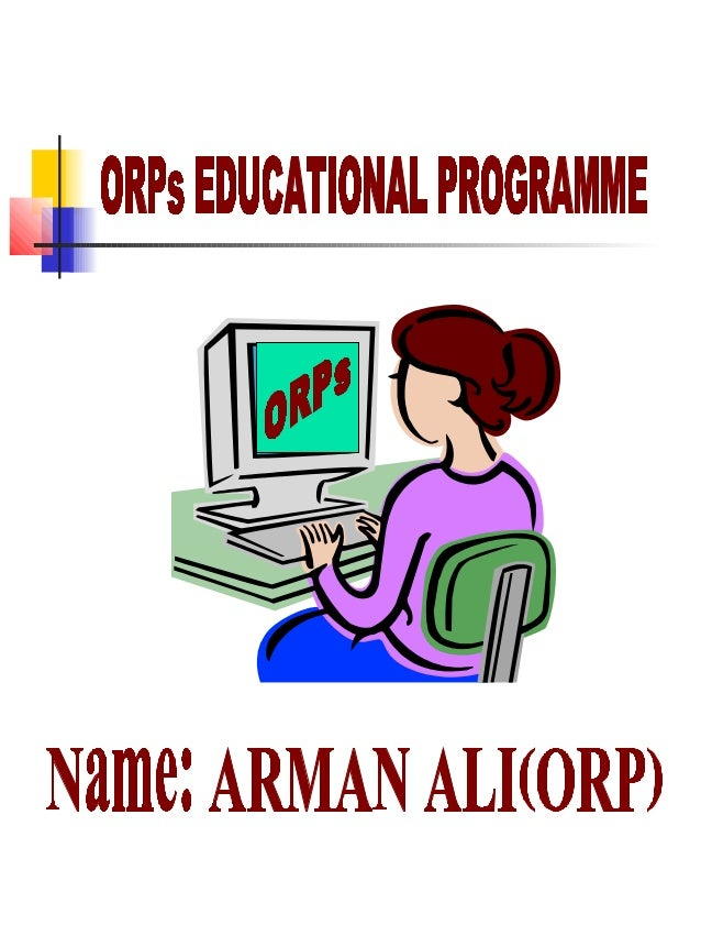 Title for or ps educational programme