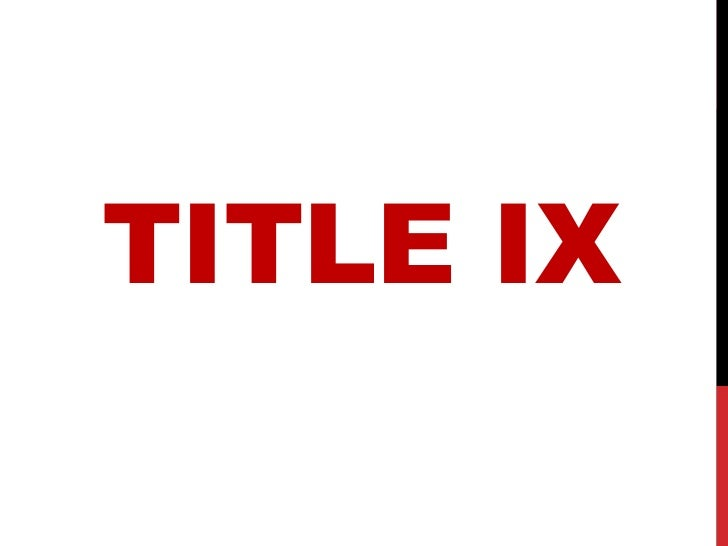 Title IX Judicial Affairs Presentation