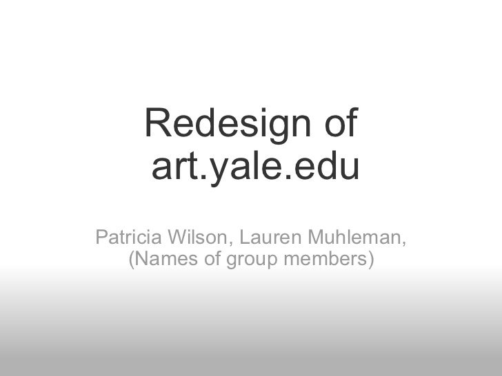 Redesign of art.yale.edu