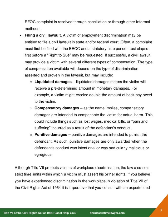 essay on civil rights act of 1964 Civil rights act essays title vii of the civil rights act of 1964 bans discrimination, including sex-based discrimination, by trade unions, schools, or employers.