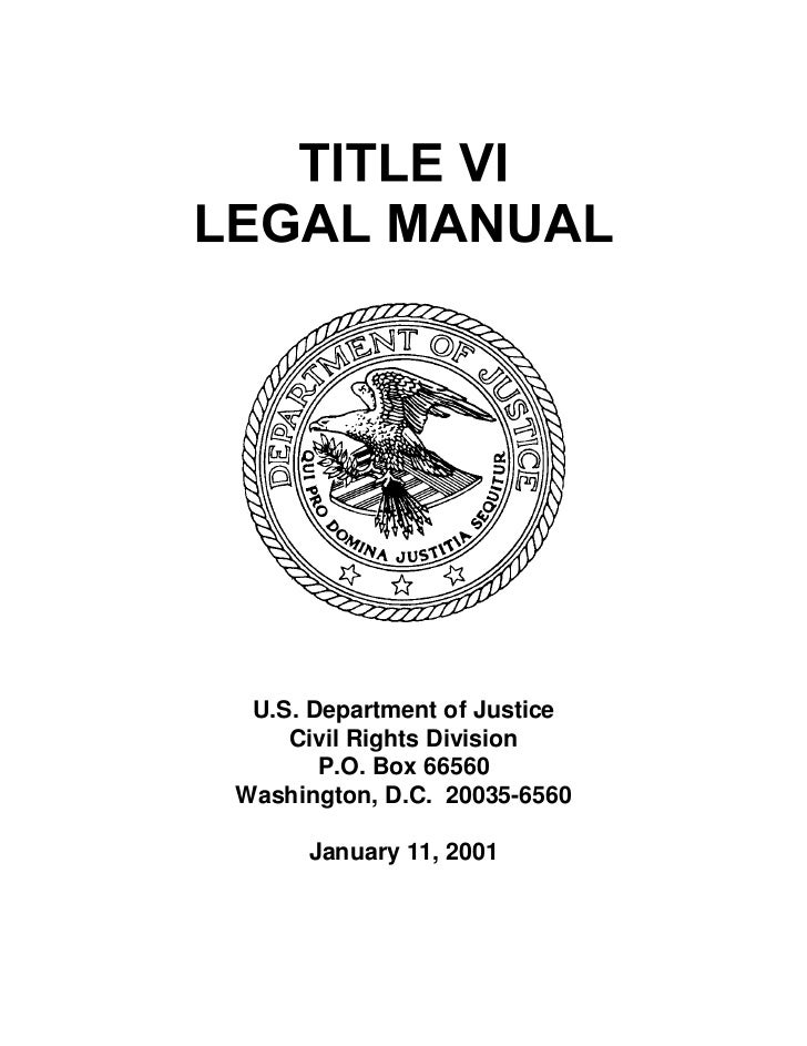 Title vi manual