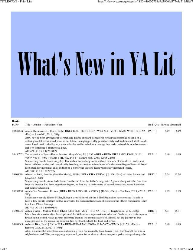TITLEWAVE - Print List                                                                                           http://ti...