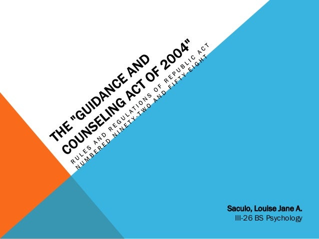 topics in guidance and counseling in philippines setting Guidance and counseling - free download as powerpoint presentation (ppt), pdf file (pdf) takes place in professional setting and topic outline-guidance services edited.