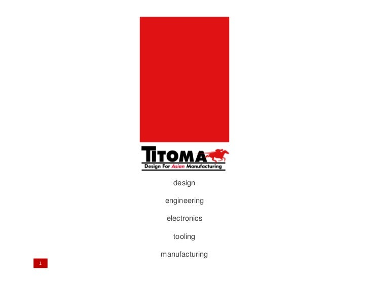 Titoma Company Presentation- Electronic Products Designed And Manufactured …