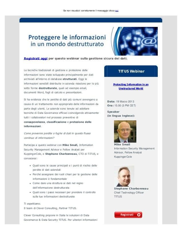 Proteggere le informazioni in un mondo destrutturato | TITUS Webinar